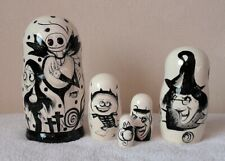 "Russian Nesting Dolls Nightmare Before Christmas! Beautiful Set 6.5"" 5 pcs!"