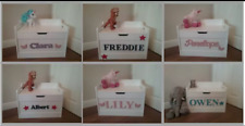 Personalised toy box chest storage perfect Christmas gift kids toys