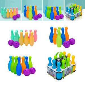 Plastic Bowling Balls Set for Kids School-age Child Indoor Outdoor Toy