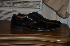 Hugo Boss Black Patent Leather Tuxedo Shoes Uk 10.5 Us 11.5! Very Nice!