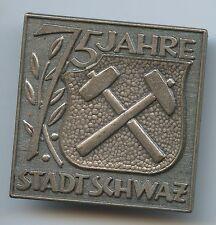 M952 - Anstecknadel Tirol Stadt Schwarz 75 Jahre