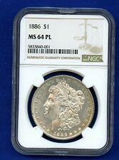 SKU #7546 1886 Morgan Dollar MS-64 NGC