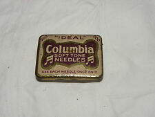 Antiguedad gramófono aguja lata Columbia Soft Tone-Needle Tin