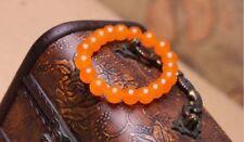Beads Elastic Bracelet Bangle 7.5'' Fashion charming 10mm Orange Jade