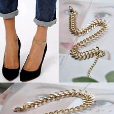 Draped Anklet Gold Ankle Bracelet 1-8 Womens Fashion Jewelry Chain Link Layered