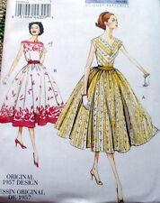 1950s VOGUE VINTAGE MODEL DRESS SEWING PATTERN 14-16-18-20-22 UC