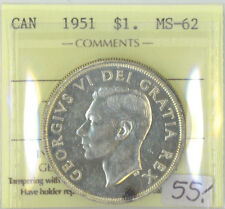 Canada 1951 $1 One Dollar ICCS Certified MS-62 XHD 963 SWL