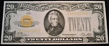 1928 $20 Gold Certificate, Higher Grade Better Type Note Bright Color Ten Dollar