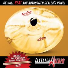 """Zildjian 15"""" Azuka Latin Multi-Crash Hand & Stick FX Cymbal + FREE Sticks!"""