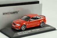 BMW M 1er 1 Series Coupe 2011 ACS1 Sport Valencia orange 1:43 Minichamps