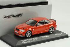 BMW M Serie 1 1 Series Coupé 2011 ACS1 Sport Valencia Naranja 1:43 Minichamps