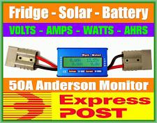GENUINE ANDERSON PLUG 12V CAMPING 4X4 SOLAR BATTERY VOLT WATT METER
