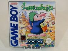 LEMMINGS NINTENDO GAME BOY GB, COLOR GBC, ADVANCE GBA, PAL ORIGINALE COMPLETO