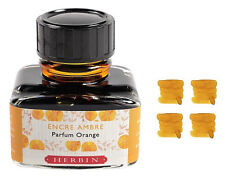 J Herbin Scented Fountain Pen Ink 30ml - Orange Amber (Parfum Orange)