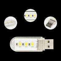 2pcs Mini USB LED lamp Book lights 3 LEDs 5730 SMD 1.5w Camping Bulb TOP+ PMA GT