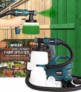 Electric Paint Sprayer Gun Spraygun Handheld Fence Home Garden Outdoor Indoor