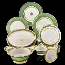 EXCLUSIVE Russian Imperial Lomonosov Porcelain Table Service Golden 52 6/24 GOLD