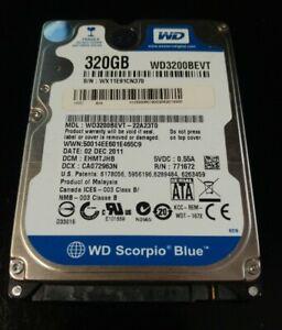 "HARD DISK 2,5"" 320GB WD WD3200BEVT SCORPIO SATA II 5400 8MB HD DISCO LAPTOP  HDD"