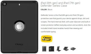 "Otterbox DEFENDER Series Case for Apple iPad 8th Gen / 7th Gen (10.2"") Black"