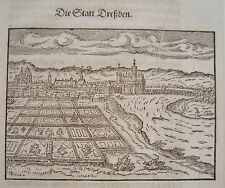 Dresden  Sachsen  sehr seltener echter alter Holzschnitt von Saur 1610