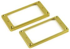 HUMBUCKER PICKUP MOUNTING RING SET (GOLD) 1 LOW & 1 HIGH FITS MOST GUITARS