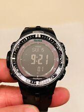 Casio Men's Pro Trek PRW-3000 Solar Powered Black Military Sport Watch 3414 Nice