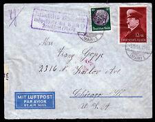 DR 772,525 auf Luftpost-Brief OFFENBACH 3.5.41 nach Chicago mit OKW-Zensur