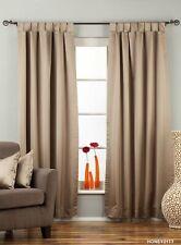 "Brownish Gray Tab Top 90% blackout Curtain / Drape / Panel - 50X84"" - Piece"