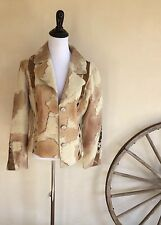 D2K High End Western Wear Shearling Fur Pony Hair Leather Jacket Worn Once M USA