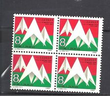 China 1985 J125 stamp of 50th Anniversary of December 9th set block of 4 MNH