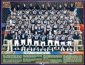 2004 NEW ENGLAND PATRIOTS 8X10 TEAM PHOTO FOOTBALL PICTURE NFL