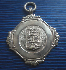 Vintage Silver Swimming Medal / Watch Fob 1943 Fattorini - Leeds Leander A.S.C.