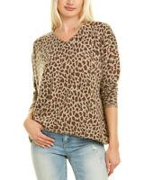 Kier + J Printed Cashmere Sweater Women's Brown S