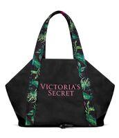NWT Victoria's Secret Logo Packable Getaway Tote Bag - Black - FREE SHIP