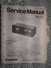 Panasonic rs-607 service manual original repair book stereo tape deck player