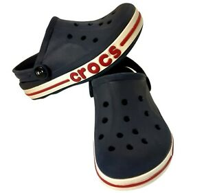 Crocs Toddler Boys Classic Red White Navy Blue Classic Sandals Slip On Size C12