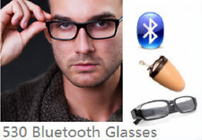 530 Bluetooth Glasses with Covert Wireless Earpiece invisible earbud exam cheat