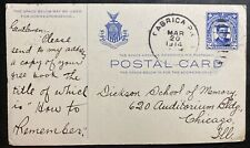 1914 Fabrica Philippines Postal Stationery Postcard Cover to Chicago IL USA