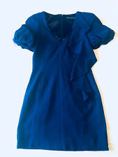 French Connection ruffle Mini Dress-bright blue size6 in excellent condition
