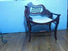 "Victorian Stick & Ball Accent Chair Dark Mahogany 29 1/4""H x 24"" W x 17 3/4""D"