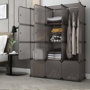 12 Cube DIY Cube Closet Wardrobe Modular Storage Organizer Clothes Shoe Cabinet