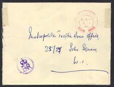 UK GB 1961 OFFICIAL BUCKINGHAM PALACE 2.JUN.61 CANCEL IN RED ROYAL SEAL ER CROWN