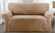 MARKDOWN---CHECKERBOARD SLIPCOVER FOR LOVESEAT--BLACK--STRETCH-COMES IN 5 COLORS