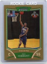 """2008-09 BOWMAN CHROME #126 ROY HIBBERT """"GOLD REFRACTOR"""" RC #3/50, INDIANA PACERS"""