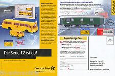 2001BRE Brekina Prospekt 2001 12/01 Deutsche Post Bus Magirus M 150 LS12 VW T2