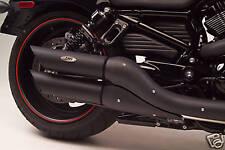H-D V-Rod Black Slash Cut Non-Baffled Slip-on Exhaust (111-2020)