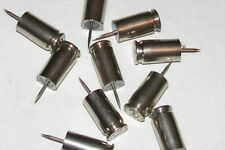 9mm Luger Bullet Push Pins Set of 10 Nickel Polished Push Pins