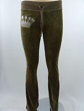 Christian Audigier Women's Velour Pants Taupe style 0012P Size M