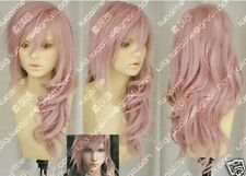 Hot~Final Fantasy Lightning Srah New Long Mix Pink Cosplay Wig Free shipping ##