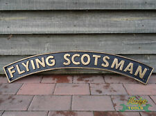 Black & Gold Heavy Cast Iron 3ft FLYING SCOTSMAN Engine Train Railway Sign YFLYS